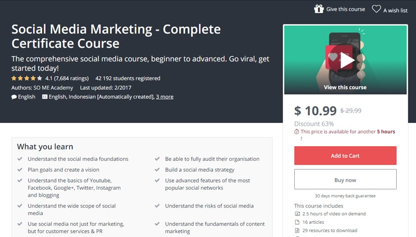 Best Social Media Marketing Courses in 2019