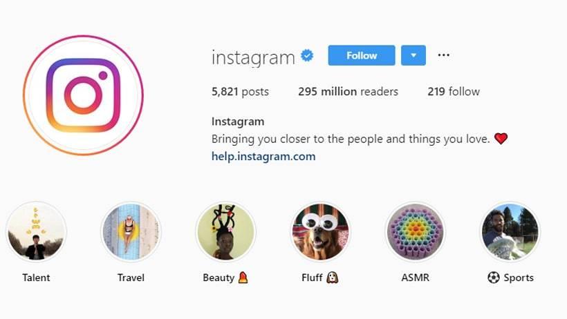 Most Popular Instagram Accounts in 2019