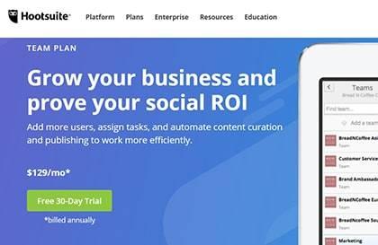 hootsuite-single-review-plan-team