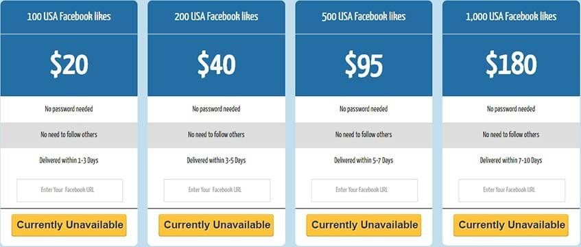 Fastlykke Facebook Likes USA