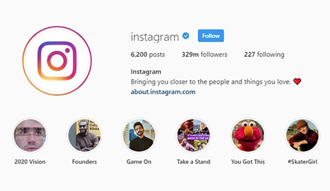 Most Popular Instagram Accounts in 2020