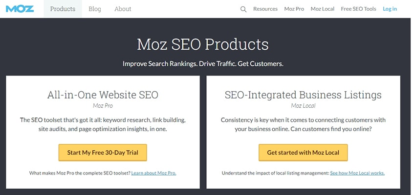 Moz Products