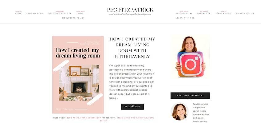 Peg Fitzpatrick Blog