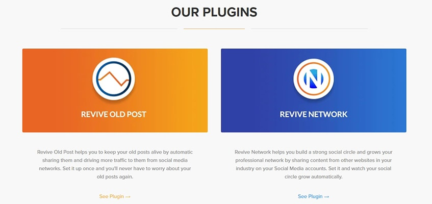 Revive Social Plugins
