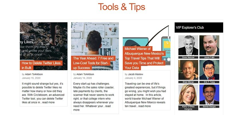 Social Media Explorer Tools Tips