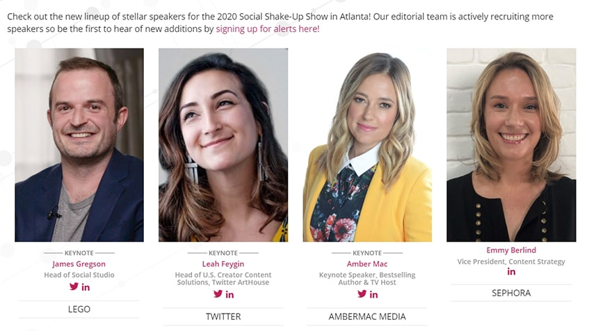 The Social Shake Up Speakers