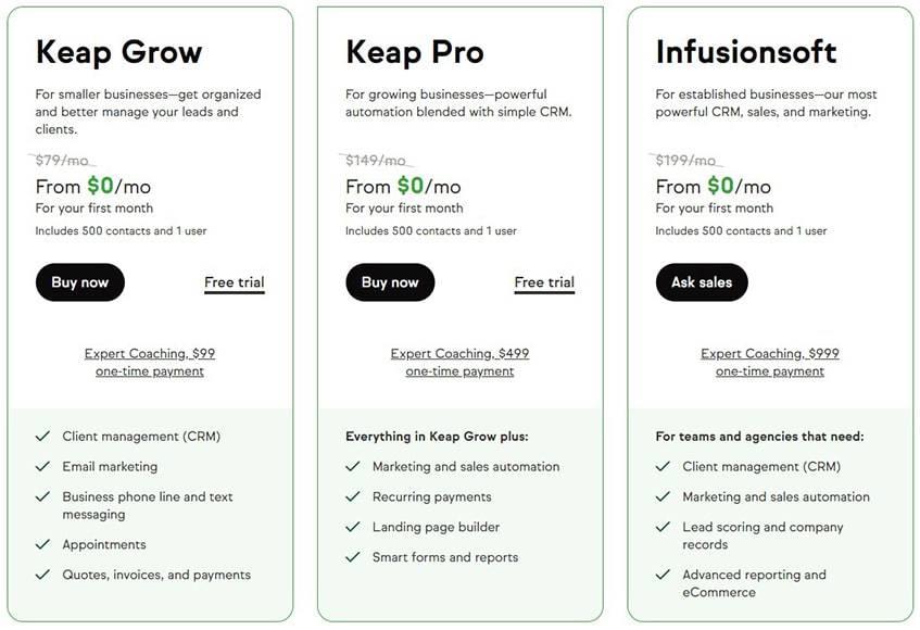 Keap-Plans-Pricing