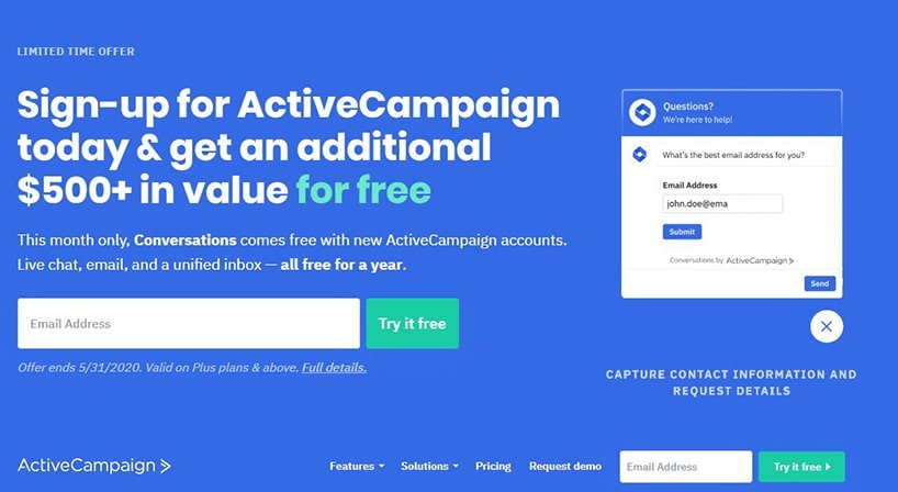 Active Campaign Form No Email Address