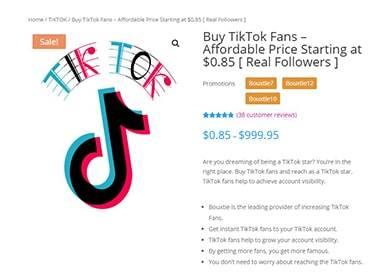 Bouxtie Buy TikTok Followers