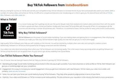 Instaboostgram TikTok Followers