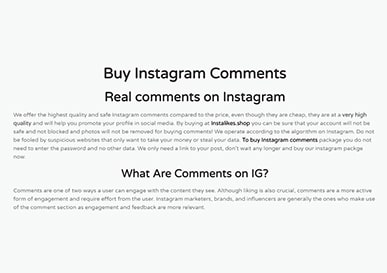 Instalikes Comments