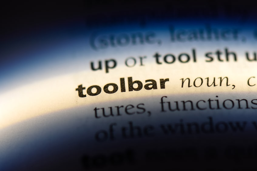 Toolbar to Strikethrough
