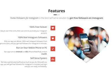 Turbo Followers Features