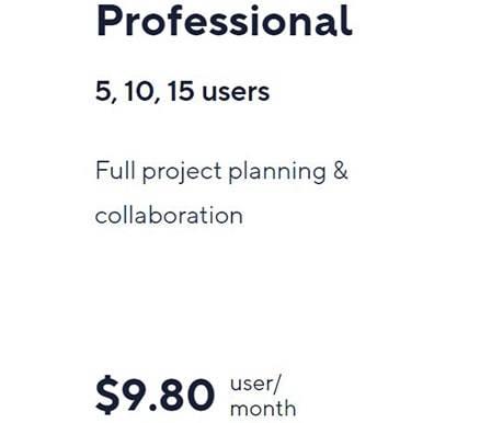 Wrike Professional Plan