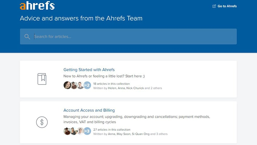 Ahrefs Support
