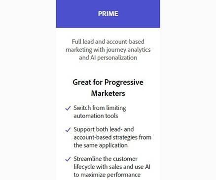 Marketo Pricing Prime