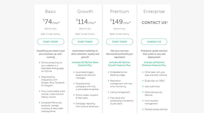 MyTime Plans & Pricing