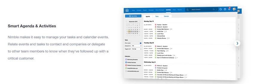 Nimble Smart Contacts App