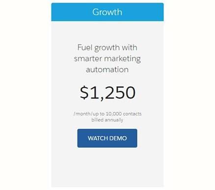 Pardot Pricing Growth