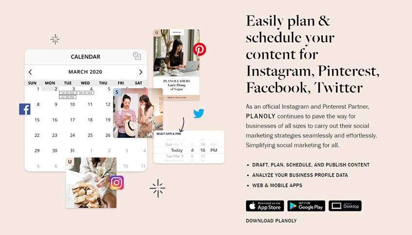 Planoly Interactive Calendar