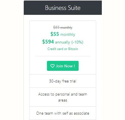 Pricing SocialOomph Business Suite