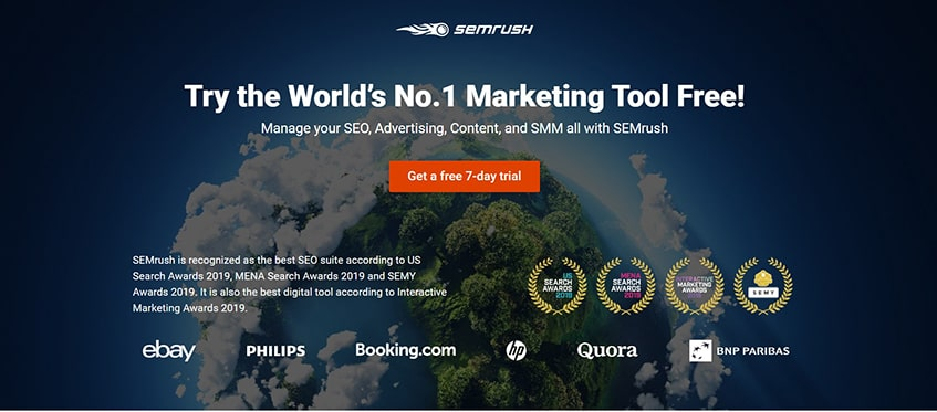 SEMrush Main Alternatives