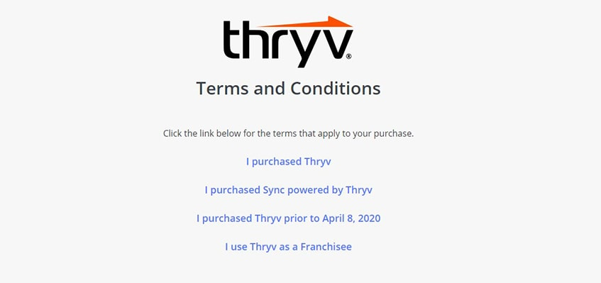 Thryv Terms & Conditions