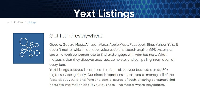 Yext Highly Refined Listings