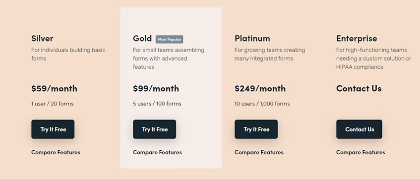 Formstack Plans and Pricing