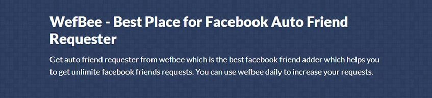 Wefbee Automatic Friend Requester
