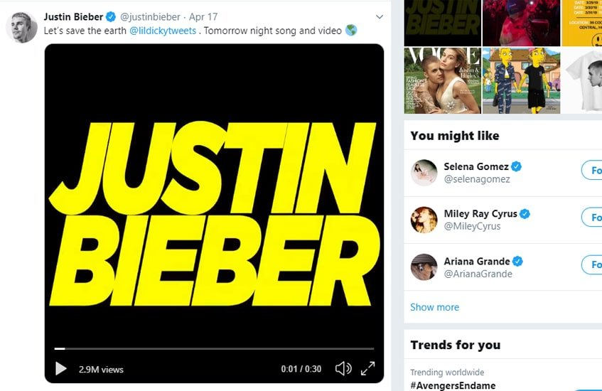#2justinbieber-post-top-chartes-twitter