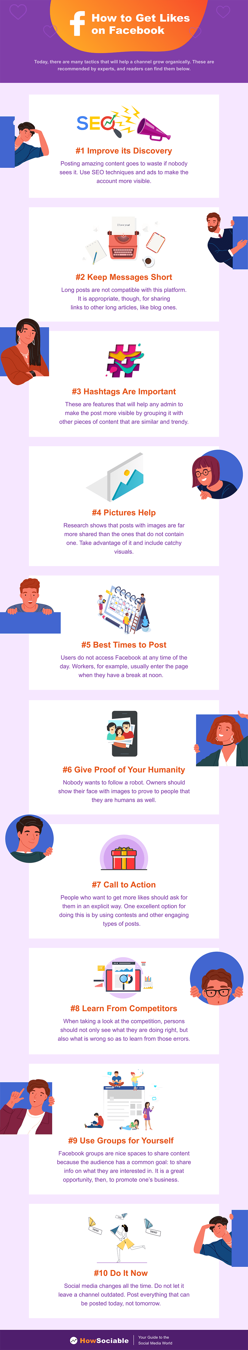How to Get Likes on Facebook Infographic