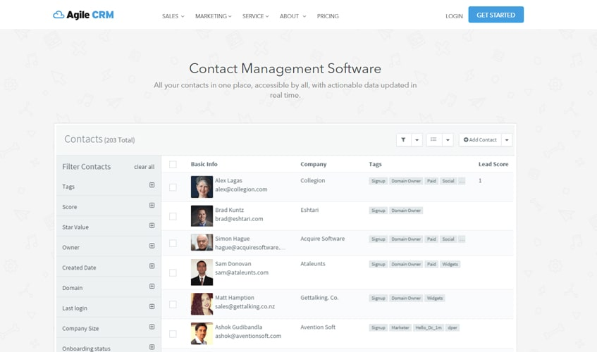 agilecrm-single-review-contact-managment