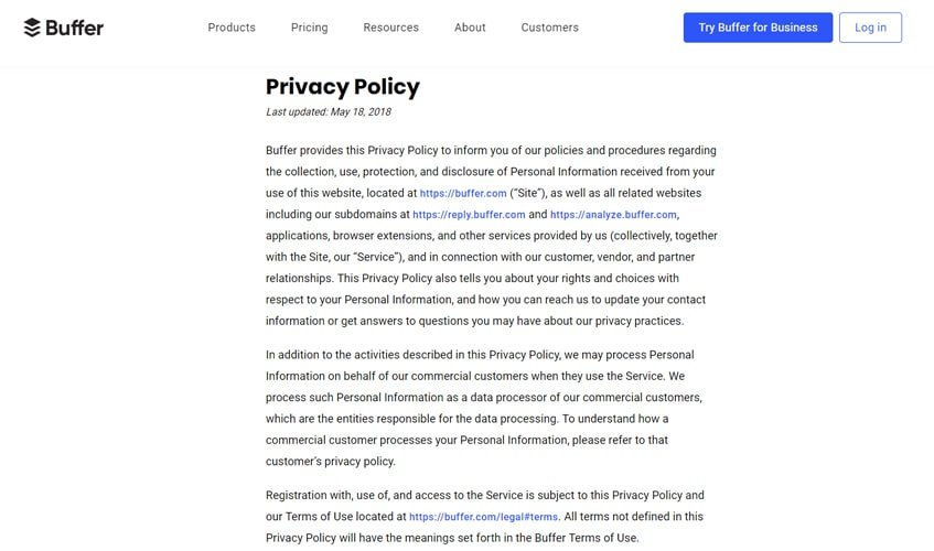 buffer-single-review-privacy-policy