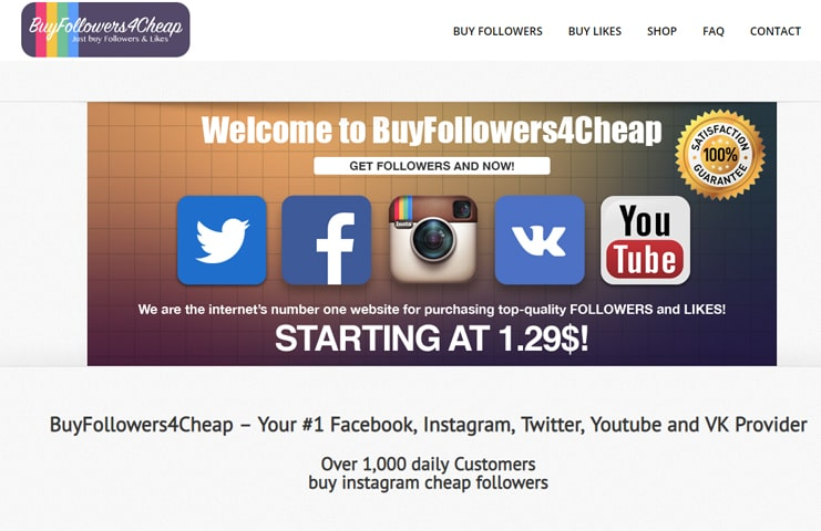 #1 BuyFollowers4Cheap