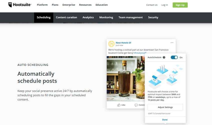 hootsuite-single-review-auto-schedule-post