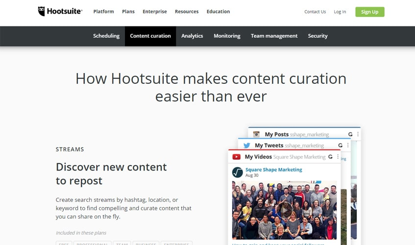 hootsuite-single-review-content-curation