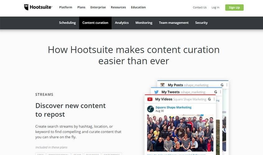 hootsuite-single-review-content-curation