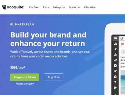 hootsuite-single-review-plan-business