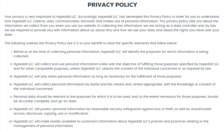 hypeddit-sr-product-privacy-policy