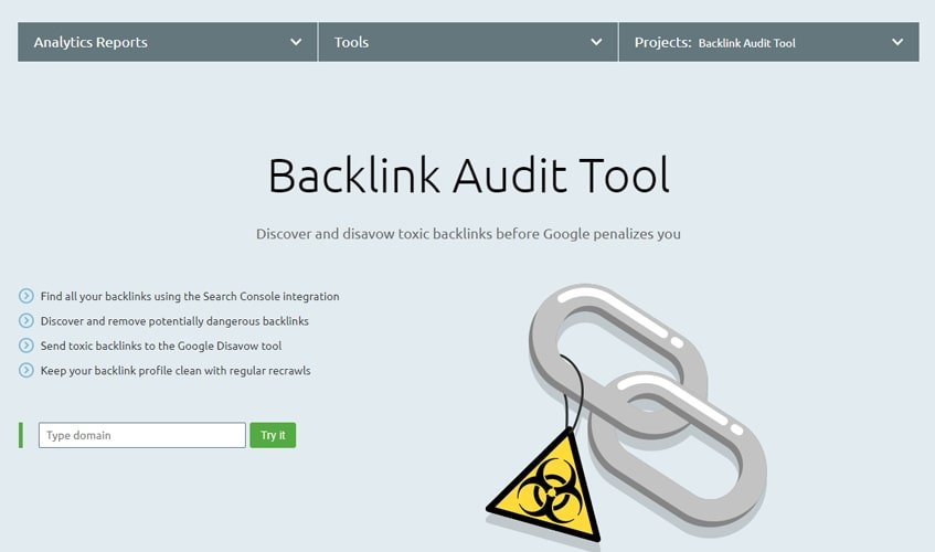 semrush-single-review-Backlink Audit Tool