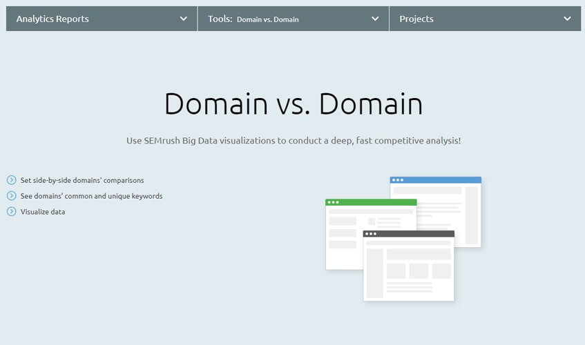 semrush-single-review-Domain vs. Domain