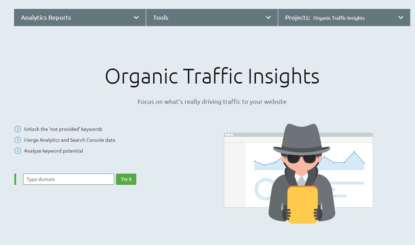 semrush-single-review-Organic Traffic Insight
