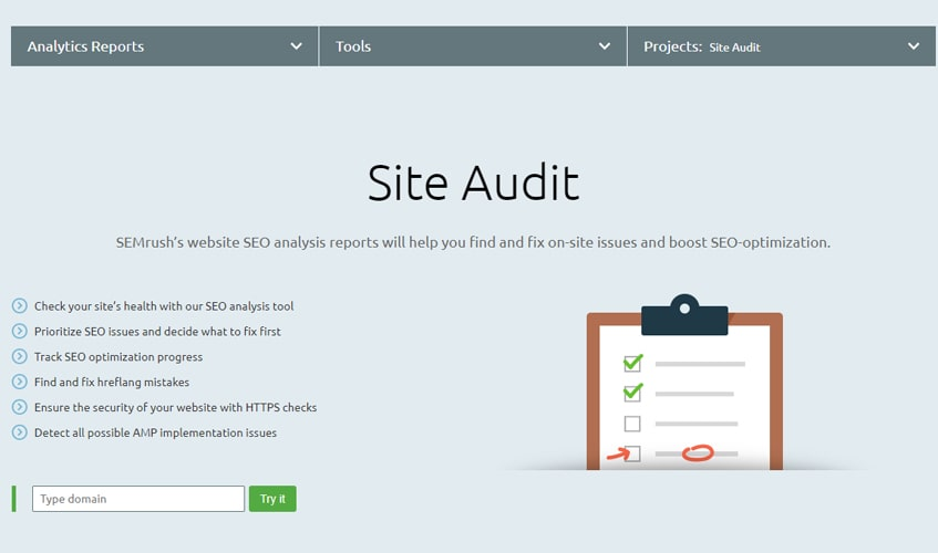 semrush-single-review-site-audit