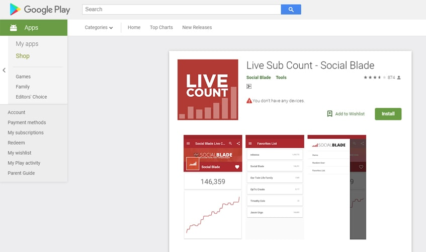 socialblade-singl-review-Mobile App & Extensions