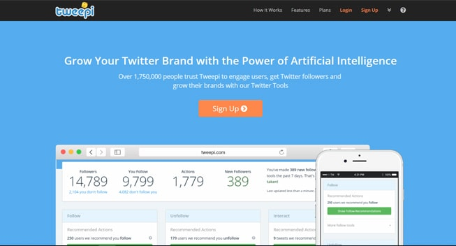 Tweepi Review: Service for Likes, Followers