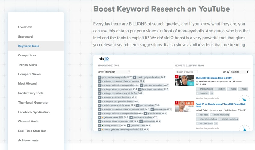 vidiq-single-review-2. Keyword Search Explorer