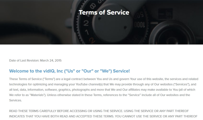 vidiq-single-review-term-of-services